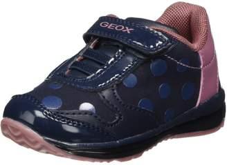 Geox Girl's B TODO G. C Sneakers, Dk Grey/Cyclamen