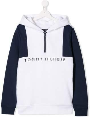 Tommy Hilfiger Junior TEEN logo zip hoodie