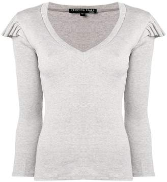 Veronica Beard frill shoulder fitted top