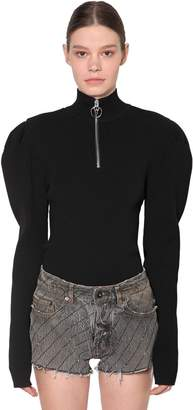 Filles a papa Fitted Viscose Blend Knit Sweater