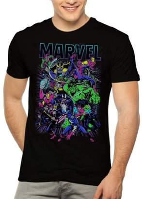 Marvel Men's Neon Group Shot Graphic Tee, up to size 3XL