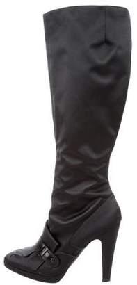 Gianfranco Ferre Knee-High Satin Boots