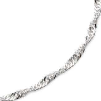 PRIVATE BRAND FINE JEWELRY Made in Italy 22 Singapore Chain Sterling Silver