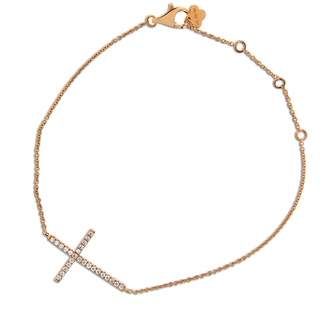 Cosanuova - Diamond Cross Bracelet 18k Rose Gold