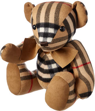 Burberry Kids' Large Thomas Bear In Check Cashmere