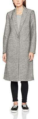 Only Women's Onlhella Long Wool Coat OTW (Light Grey Melange)