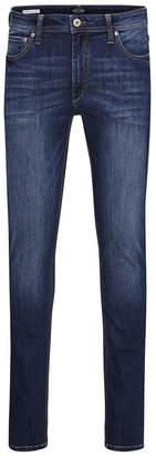 Jack and Jones Men's Slim Straight Fit Dark Blue Jeans