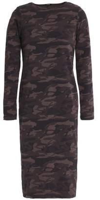 Monrow Printed Stretch-Cotton Jersey Dress