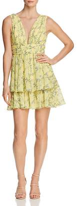 Aqua Tiered Floral Fit-and-Flare Dress - 100% Exclusive