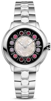 Fendi IShine Rotating Gemstones Watch, 38mm