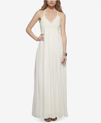 Jessica Simpson Crisscross-Strap Crochet-Top Maxi Dress $99.50 thestylecure.com