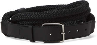 Jil Sander Black Thick Rope Belt