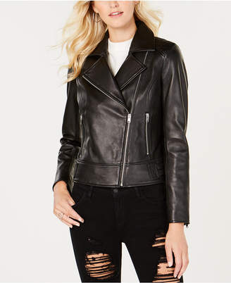 Andrew Marc Leah Leather Moto Jacket
