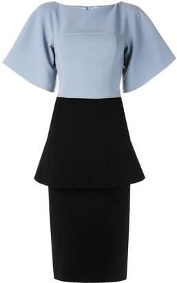 Christian Siriano formal peplum tube dress