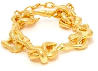 Sophia Kokosalaki Agrifi Hooks Gold Plated Silver Bracelet - Womens - Gold