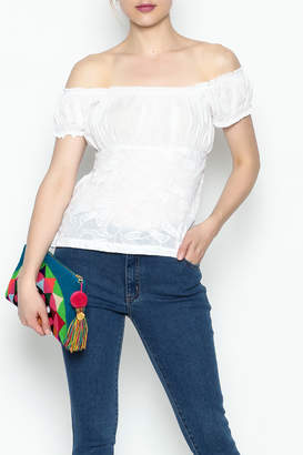 Made on Earth Embroidered Peasant Blouse