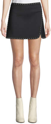 Helmut Lang Studded Side-Split Mini Skirt