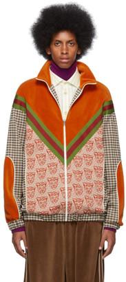 Gucci Orange Tiger Heads Sweater