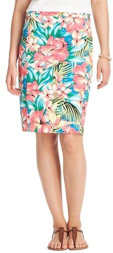 LOFT Tall Tropical Floral Pencil Skirt