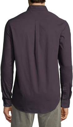 Report Collection Men's Long-Sleeve Micro Dot Sport Shirt