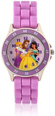 DISNEY PRINCESS Disney Princess Unisex Purple Strap Watch-Pn9023jc