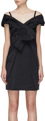 Marc Jacobs Bow front pleated off-shoulder dress
