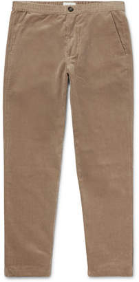 Oliver Spencer Wide-Leg Cotton-Corduroy Drawstring Trousers
