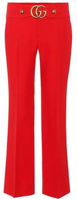 Gucci Wool and silk cropped trousers