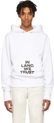 Helmut Lang White Brian Roettinger Logo Hack Standard Hoodie