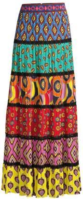 Alice + Olivia Carla Kranendonk X Lesa Paneled Maxi Skirt