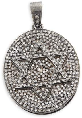 Artisan 925 Sterling Silver & Diamond Star of David Pendant