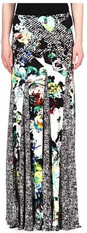 Roberto Cavalli Printed maxi skirt