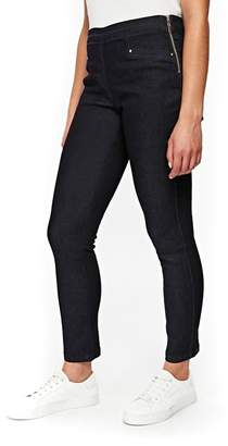 Wallis Petite Indigo Demi Side Zip Jeans