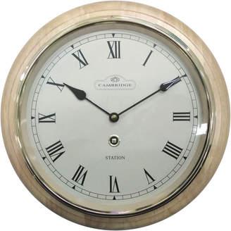 Cambridge Silversmiths 31.5cm Roman Numerals Station Wall Clock