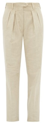 Giuliva Heritage Collection The Husband High Rise Corduroy Trousers - Womens - Ivory