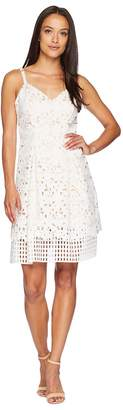 Vince Camuto Lace Sleeveless Fit and Flare Dress Women's Dress