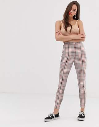 Asos Design DESIGN check jacquard skinny trouser