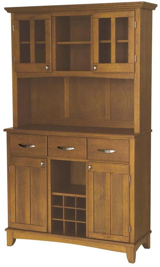 Home Styles Cottage Oak Buffet with Hutch