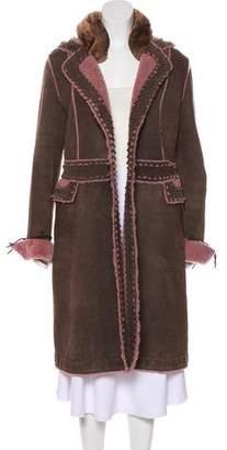 Ermanno Scervino Suede Long Coat
