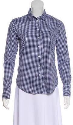 Band Of Outsiders Gingham Print Top