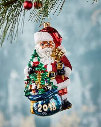 Christopher Radko 2018 In the Bag Santa Christmas Ornament