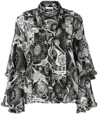 Chloé high-neck ruffle blouse
