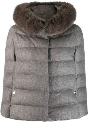 Herno faux fur collar puffer jacket