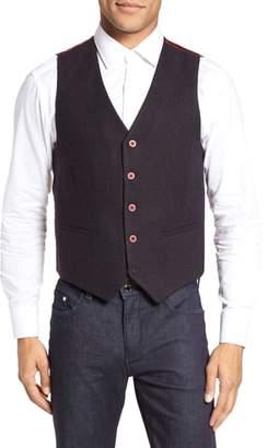Stone Rose Textured Wool Blend Vest