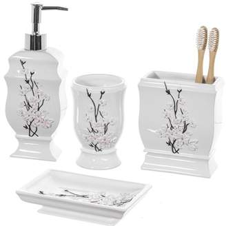 Creative Scents Vanda 4 Piece Bathroom Accessory Set
