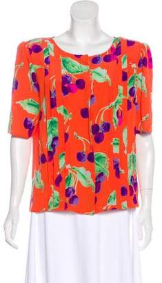 Ungaro Paris Vintage Printed Top