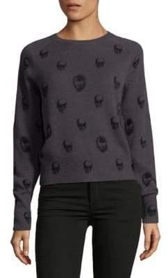 360 Cashmere Crewneck Skull Sweater