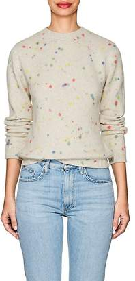 The Elder Statesman Women's Spotted Cashmere Crewneck Sweater