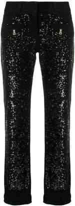 Balmain sequin-embellished jeans