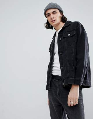 Cheap Monday Upszied Black Denim Jacket